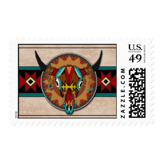 Buffalo Shield Postage Stamp