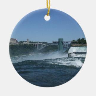 Buffalo side of Niagara Falls Ceramic Ornament