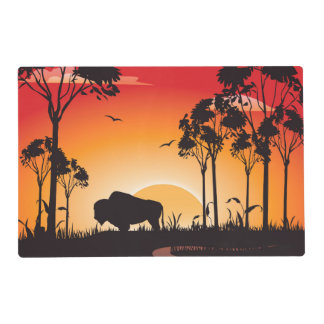 Buffalo silhouette placemat