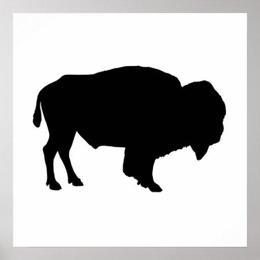 Buffalo Silhouette Poster Zazzle Com