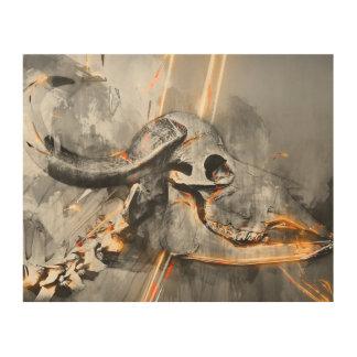 Buffalo skull art - Wall art print