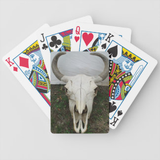 Buffalo Skull Bicycle Playing Cards