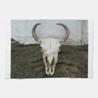 Buffalo Skull Kitchen Towel