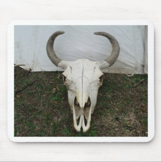 Buffalo Skull Mouse Pad