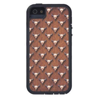 Buffalo Skull Painting on Brown Paper iPhone 5 Cases