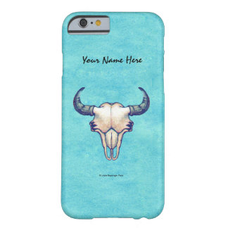 Buffalo Skull Painting on Turquoise Paper Barely There iPhone 6 Case