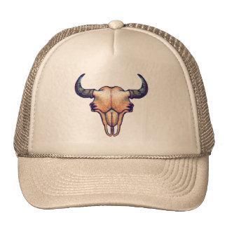 Buffalo Skull Painting Trucker Hat
