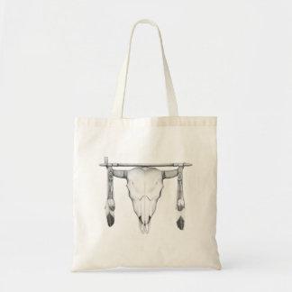 Buffalo Skull & Pipe Budget Tote Bag