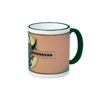 Buffalo Skull Ringer Coffee Mug