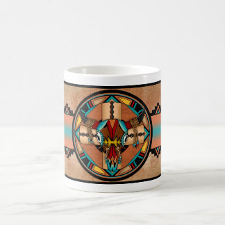 Buffalo Skull Shield Classic White Coffee Mug