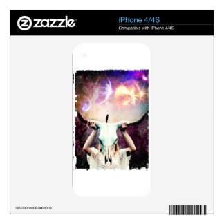 Buffalo Skull Space Cosmos Dream Skins For The iPhone 4