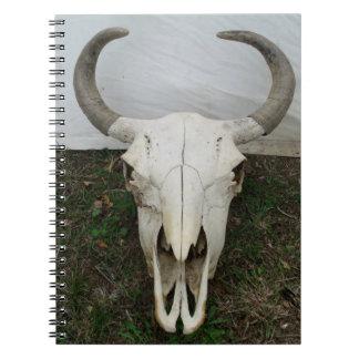 Buffalo Skull Spiral Notebook