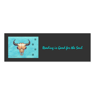 Buffalo Skull Turquoise Business Cards