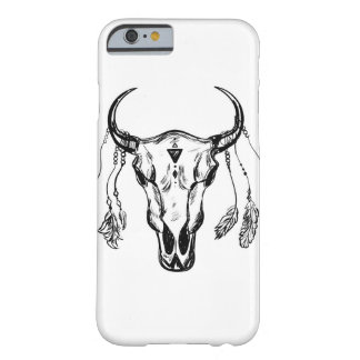Buffalo Skull With Feathers. Hand Drawn Sketch. Barely There iPhone 6 Case