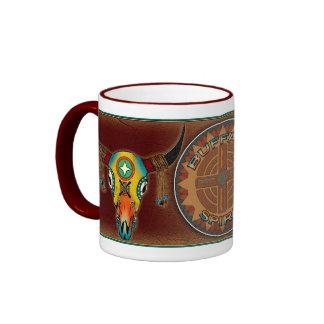 Buffalo Skulls Ringer Coffee Mug