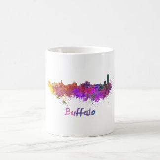 Buffalo skyline in watercolor coffee mug