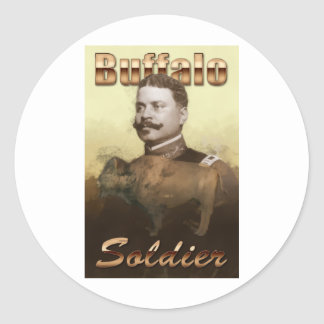 Buffalo Soldier Classic Round Sticker