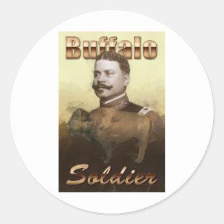 Buffalo Soldier Classic Round Sticker