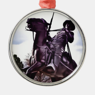 Buffalo Soldier Monument. Metal Ornament