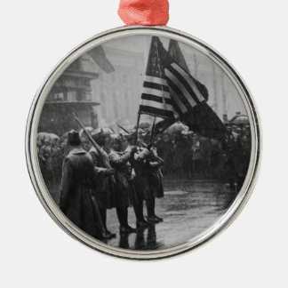 Buffalo Soldiers 367th Infantry African American Metal Ornament