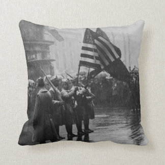 Buffalo Soldiers 367th Infantry African American Throw Pillows