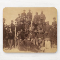 Buffalo Soldiers Black Freedom Fighters Mouse Pad