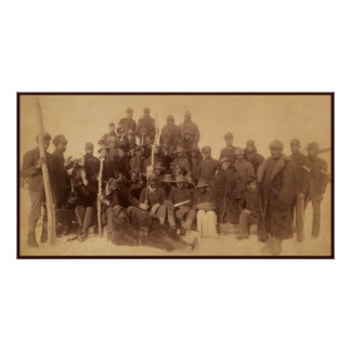 Buffalo Soldiers Black Freedom Fighters Poster