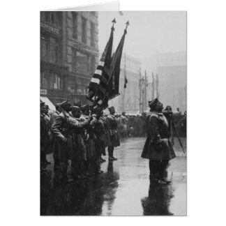 """""""Buffalo"""" Soldiers Returning Colors - 1919 Greeting Card"""