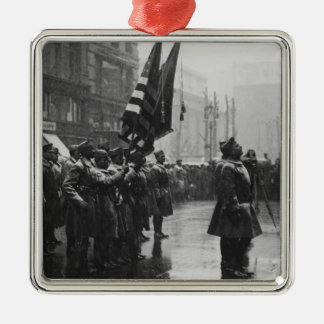 """Buffalo"" Soldiers Returning Colors - 1919 Metal Ornament"