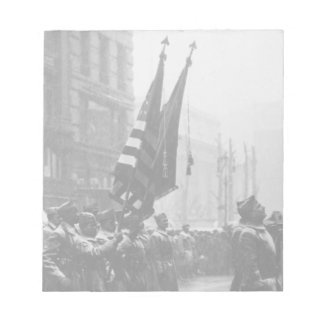 """""""Buffalo"""" Soldiers Returning Colors - 1919 Notepad"""