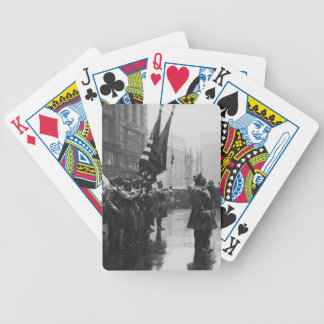 """""""Buffalo"""" Soldiers Returning Colors - 1919 Bicycle Playing Cards"""