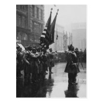 """""""Buffalo"""" Soldiers Returning Colors - 1919 Postcard"""