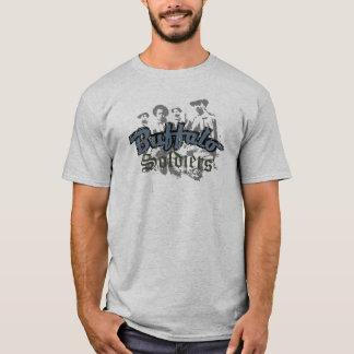 Buffalo Soldiers Tshirt Design Blue Grey