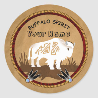 Buffalo Spirit Classic Round Sticker