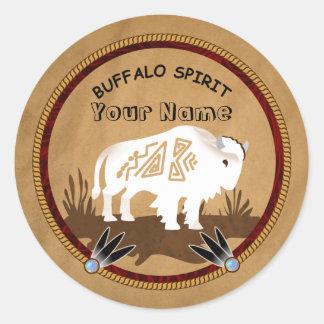 Buffalo Spirit Classic Round Sticker