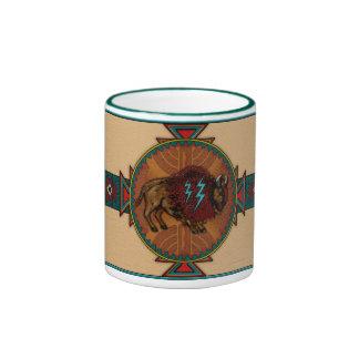Buffalo Spirit Ringer Coffee Mug