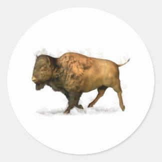 Buffalo Classic Round Sticker