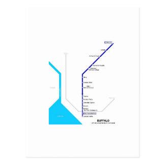 Buffalo subway post cards