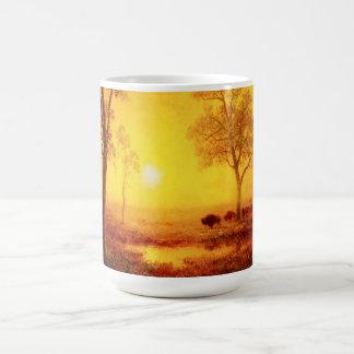 Buffalo Sunset on the Mountain Mug