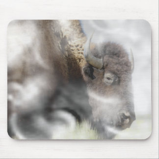 Buffalo Surrounded by Clouds Mouse Pads