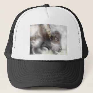 Buffalo Surrounded by Clouds Trucker Hat