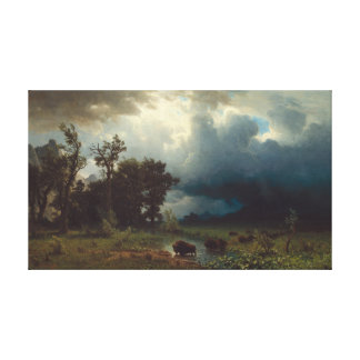 Buffalo Trail: The Impending Storm Canvas Print