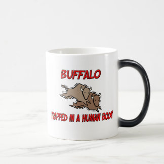 Buffalo trapped in a human body 11 oz magic heat Color-Changing coffee mug