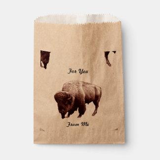 Buffalo Treats Favor Bag