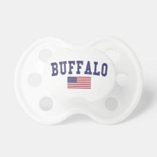 Buffalo US Flag Pacifier