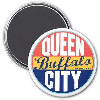 Buffalo Vintage Label 3 Inch Round Magnet