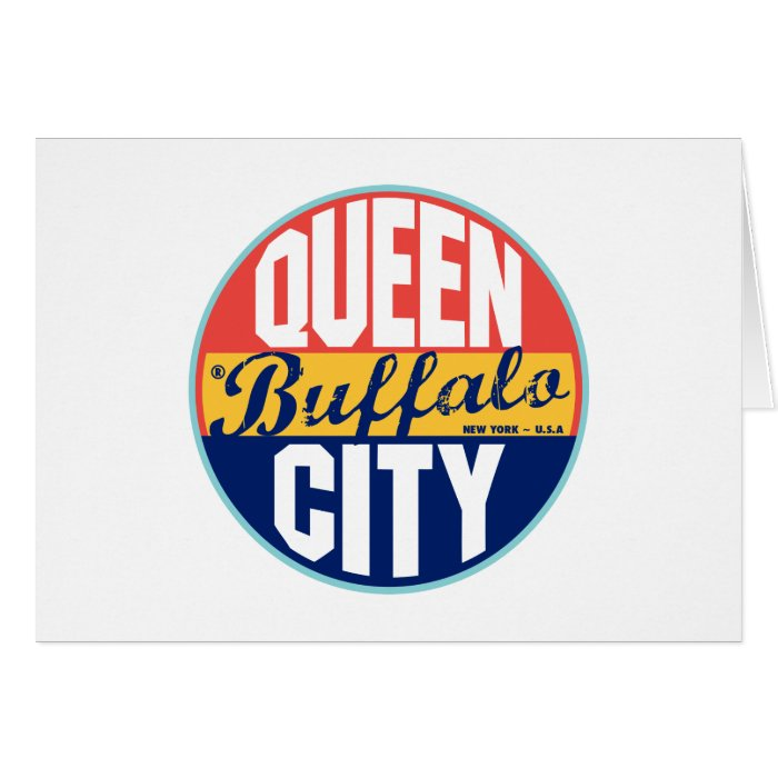Buffalo Vintage Label Card