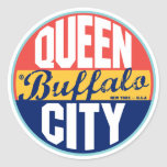 Buffalo Vintage Label Classic Round Sticker
