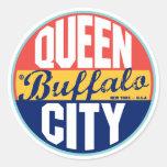 Buffalo Vintage Label Classic Round Sticker