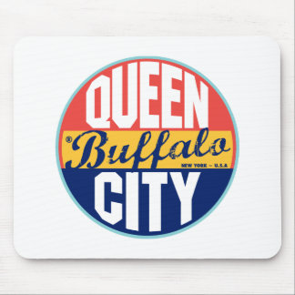 Buffalo Vintage Label Mouse Pad